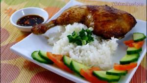 Đam Mê Ẩm Thực Sau-khi-nướng-xong-cho-Gà-Rôti-ra-đĩa-và-dùng-kèm-với-cơm5-dammeamthuc.com_